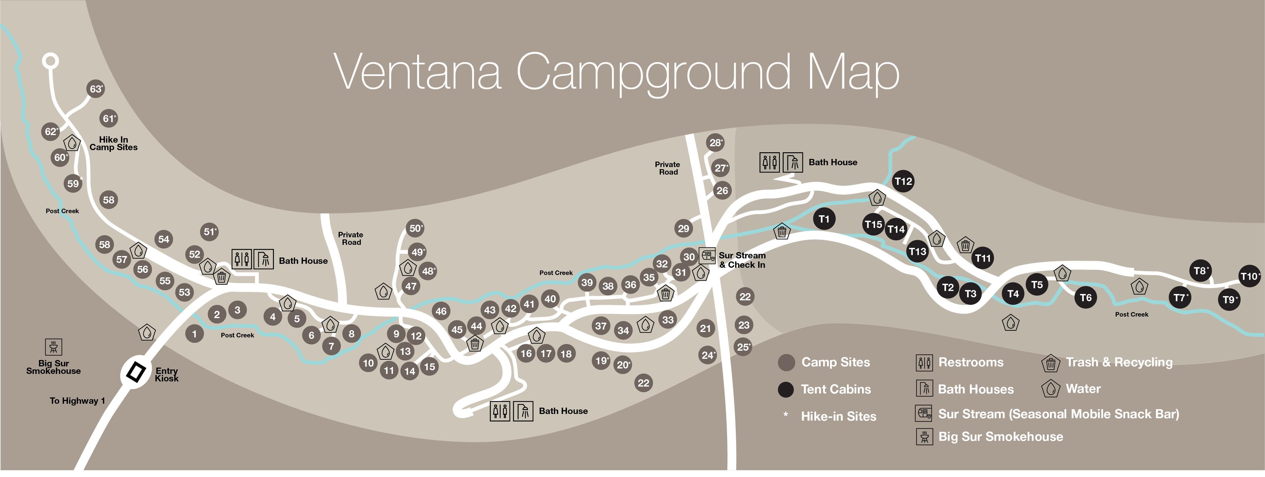 Luxury Campgrounds In Coastal Ca Ventana Big Sur Camping