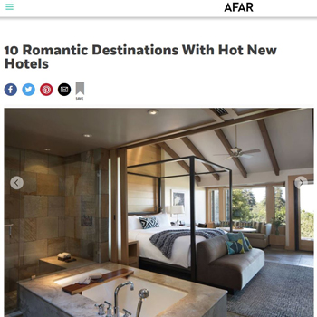 10 Romantic Destinations With Hot New Hotels